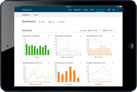 Parsable Analytics overview screen