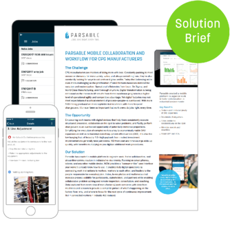 Parsable Mobile Collaboration and Workflow for CPG Manufacturers