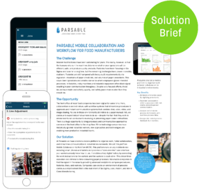 Download Parsable Mobile Collaboration and Workflow for Food Manufacturers