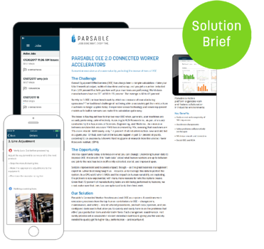 [Solution Brief] Parsable OEE 2.0 Connected Worker Accelerators